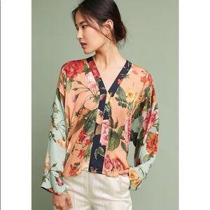 Farm Rio Floral Kimono Blouse